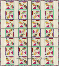 Are you following the 2016 Block of the Month? The ninth block, Opposing Half Circles, complete sewing tutorial releases today! See the block and three digital quilt designs on my blog.