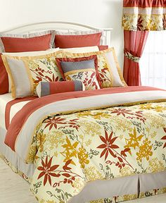 look of charm, these Wild Flower comforter sets feature a flower and leaf design that is reminiscent of autumnal beauty. The set features a lovely, earthy palette and comes complete with all the elements needed to give your room a complete makeover. Home, Pretty Bedding, Comforter Sets, Bedding Sets, Bed, Bed In A Bag, Cal King Bedding, King Comforter Sets, Comforters