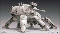 Destiny: Devil Walker by Mark Van Haitsma. (via ArtStation - Destiny: Devil Walker, Mark Van Haitsma)  More robots here.