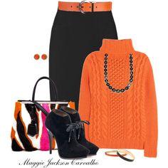 """Black and Orange"" by maggie-jackson-carvalho on Polyvore"