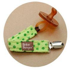Eco Green Binkie Bungee Pacifier Clip by Z. Daisy
