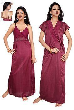 Teleno Magenta 2 Piece Women Nightwear c47a0bc7a