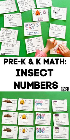Kindergarten Math Activities, Homeschool Math, Fun Math, Insect Activities, Numbers Kindergarten, Counting Activities, Spring Activities, Educational Activities, Maths