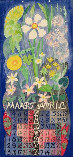 Leo Visser (Dutch, 1880-1950). Kalender voor het jaar 1928.