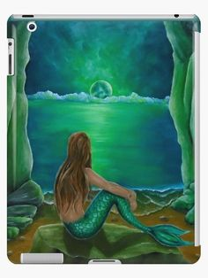 iPad Case/Skin,  mermaid,green,fantasy,unique,cool,fancy,beautiful,trendy,artistic,unusual,accessories,ideas,design,items,products,for sale,redbubble