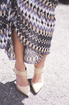 Printed Maxi and Nude Pumps ~ EMMA CRISTY
