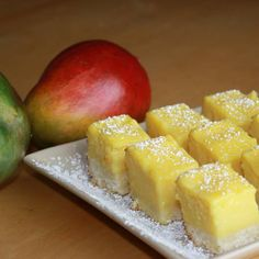 Creamy Mango Squares with cream cheese #bitesize #dessert