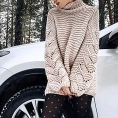 Fine stylish sweater with a large knitting! Rowan Knitting, Lace Knitting, Knit Crochet, Baby Knitting Patterns, Knit Fashion, Sweater Fashion, Pullover Mode, Crochet Clothes, Knitwear