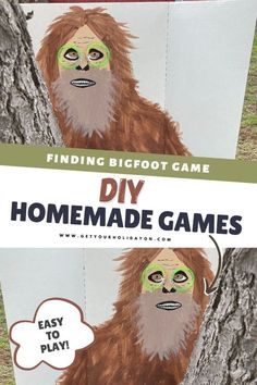 Outdoor Party Games, Adult Party Games, Adult Games, Games For Kids, Bigfoot Party, Finding Bigfoot, Diy Games, Contest Games, Ice Breaker Games