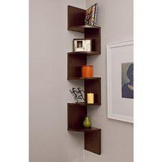 Amazon.com - Corner Zig Zag Wall Shelf - Corner Shelves