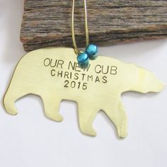 "Birth Announcement ""Our New Cub"" New Baby Ornament Valentines Gifts For Him, Christmas Gifts For Him, Holiday Gifts, Christmas Diy, Baby Ornaments, How To Make Ornaments, Surprise Gifts For Him, Surprise Ideas, Birthday Surprise Boyfriend"