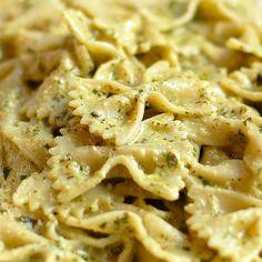 Creamy Pesto Pasta Recipe Main Dishes with basil pesto sauce, extra-virgin olive oil, heavy cream, salt, pepper, pasta