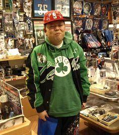 【大阪店】 2013年3月9日  東京店もご利用いただいているタノウチ様にお越し頂きました♪  本日はこれからの季節に向けてヒートのTシャツをチョイス。  4月は東京店でお会いしましょう! #nba