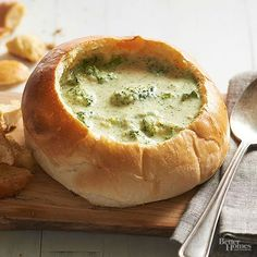 When it comes to broccoli soup recipes, broccoli cheese soup is always the winner! The simple combination of broccoli and smooth, melty American cheese creates an irresistible and easy soup recipe. Quick Soup Recipes, Bhg Recipes, Broccoli Soup Recipes, Broccoli Cheese Soup, Cooking Recipes, Crockpot Recipes, Recipes Dinner, Korma, Biryani