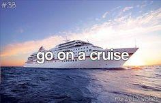 Bucket List⇨go on a cruise. Preferably to alaska pleaseeee♡