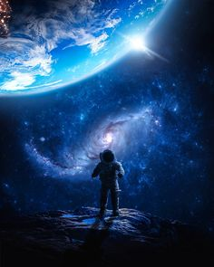 Who am I in this universe? by Matej AntunovićSpace themed edit with astronaut that landed on the moon Iphone Wallpaper Moon, Planets Wallpaper, Wallpaper Space, Fall Wallpaper, Galaxy Wallpaper, Iphone Wallpapers, Space Drawings, Space Artwork, Cãezinhos Bulldog
