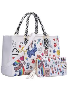 Shop White Funny Print Two Piece Tote Bag online. SheIn offers White Funny Print Two Piece Tote Bag & more to fit your fashionable needs.