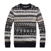 New 2016 Autumn Winter Sweater Men Slim Cardigan Leisure Tops Milu Deer Knitted Christmas Sweater(China (Mainland))