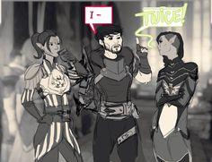 [Frame 2 of 4] jadenite.tumblr: Elves: 1 Hawke: 0