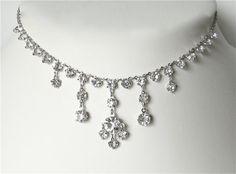 Brilliant Crystal rhinetone necklace. by JewelryOnVintageLane, $78.00