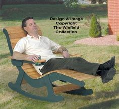 Chaise Lounge Rocker Wood Plans Stretch out on this lounge chair while you enjoy gentle rocking motion. Make one for your deck or patio - we guarantee you're going to love it!! #diy #woodcraftpatterns