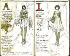 Sketchbook Project page by Waldmaer on DeviantArt Sketchbook Project, Sketchbook Pages, Fashion Sketchbook, Sketch Fashion, Sketchbook Ideas, Inspiration Art, Sketchbook Inspiration, Journal Inspiration, Moleskine