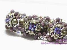 Free photo tutorial shows you how to make this bracelet using RAW to make each piece, then connect them together to make a bracelet, necklace or ring. http://bead-tutorial.livejournal.com