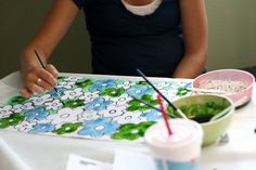 eighteen25: summer craft ideas (part five) corn syrup painting