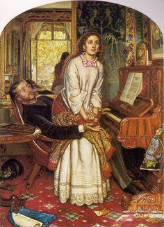 William Holman Hunt 1853, The Awakening Conscience. Sitter: Annie Millar