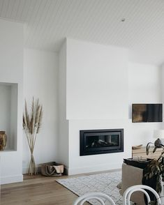 Great fireplace and chimney Salt at Shoal Ba… Sponsored Sponsored Taubmans Cotton Sheets white paint. Home Living Room, Apartment Living, Living Room Designs, Living Room Decor, Home Fireplace, Fireplace Design, Fireplaces, Chimney Decor, White Sheets
