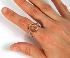 """This """"Lucky 7 Mobiused Ring"""" comes together quickly and looks great. Try it in bronze and stainless steel for a challenge or create it in another bas..."""