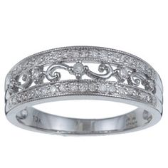 10k White Gold 1/3ct TDW Diamond Ring (G-H, I1-I2) | Overstock™ Shopping - Top Rated Diamond Rings