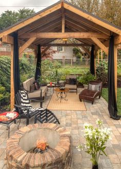 37 Stunning Gazebo Decorating To Make Your Backyard. Install an outdoor gazebo and revel in your backyard like you can't ever have before. If you think that your backyard is too open to curious onlookers. Diy Gazebo, Backyard Gazebo, Backyard Patio Designs, Backyard Retreat, Backyard Landscaping, Backyard Ideas, Terraced Backyard, Cozy Backyard, Landscaping Ideas