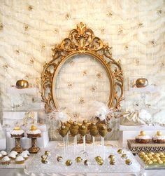 Snow White Inspired Dessert Table