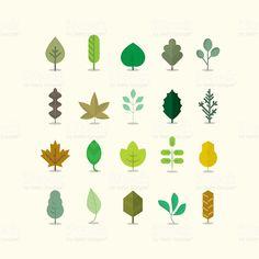 Colección de hojas illustracion libre de derechos libre de derechos