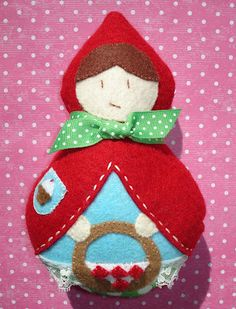 cupcake cutie: Little Red Riding Hood Softie Doll pattern