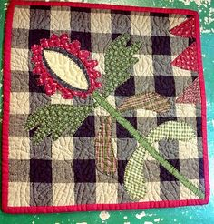 This mini quilt is by my favorite quilt designer - Cheri Saffiote Payne