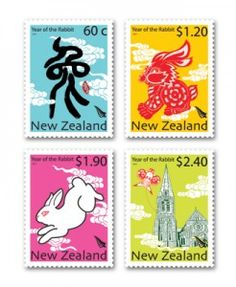 bunny New Zealand stamps!