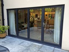 Smart aluminium glazing products manufactured by Marlin and installed by our fitters at a property extension and refurbishment project in Ilkley, West Yorkshire