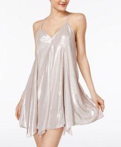 Sequin Hearts Metallic Slip Dress - THIS IS SOOOO CUTE! I love it. Perfect cut for my body too...