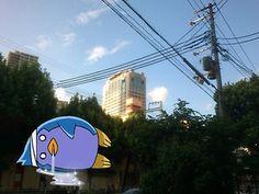 神戸県警のビルが夕方の風できれいに見えたので写真を撮ってみた(笑)