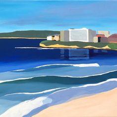 Cronulla 2 40 x 50cm . . . . . . . #art #artist #artofinstagram #shire #shirelife #cronulla #nsw #sutherlandshire #beach #ocean #wanda #eloura #coastal #surf #blue #sand #whitewater #gallery #collector #light #shapes #artforsale #beachart #australia #australianartist #aussie