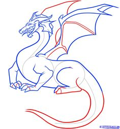 how to draw a dragon step by step - Αναζήτηση Google