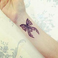Lace Bow Tattoos, Arrow Tattoos, Lazo Tattoo, Bow Tattoo Designs, Lace Bows, Tatting, Piercings, Ink, Album Photo