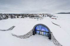 The Icehotel 365 is located on the banks of the Torne River in Jukkasjärvi, Sweden – next to the site where a seasonal Icehotel has been erected each winter since 1989.