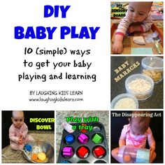 Here is a collection of very simple DIY baby play ideas that you can do at home.