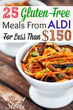 Eating gluten free does not have to be expensive!  Here is how to make 25 gluten free meals from ALDI for under $150!