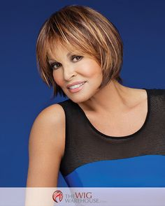 The Muse wig by Raquel Welch is a fantastic restyling of the classic page cut. The chin length locks are beautifully layered, with full-length bangs that beautifully frame your face. Style the bangs t