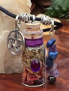 Psychic Portals Witch's Spell Bottle Talisman Intuition Wisdom Wiccan  – Mystic Witch Creations