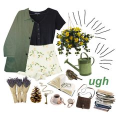 Go ahead and cry little girl by purpleghost on Polyvore featuring Burberry, Rock 'N Rose, Nearly Natural and Mills Floral Company